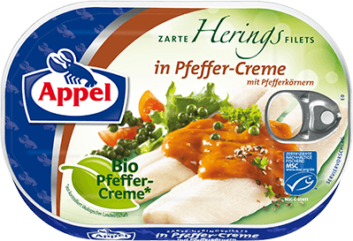 MSC Heringfilets in Bio-Pfeffer-Creme